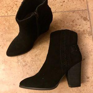 Volatile Black suede boots